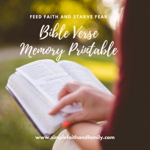 bible verse memory sheet